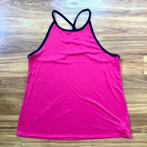 Pink & Navy Blue Old Navy Halter Active Tank Top